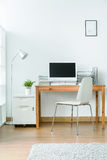 Practical and nice place to work at home Royalty Free Stock Photography