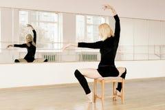 Practice in aerobics room Royalty Free Stock Photos