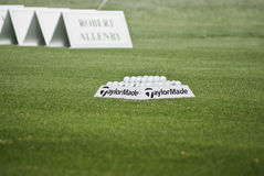 Practice Balls - Robert Allenby - Winner Stock Images