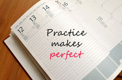 Practice Concept Notepad Stock Photography