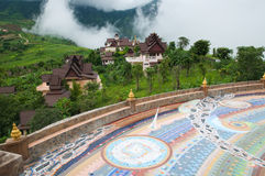 Practice the dharma school. Practice the dharma scool on mountain Thailand Stock Images