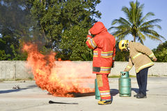 Practice fire drills Royalty Free Stock Images