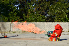 Practice fire drills Stock Images