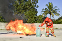 Practice fire drills Stock Photography