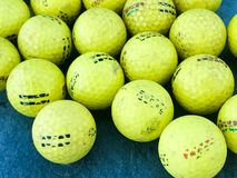 Practice Golf Balls. Large bucket of practice range golf balls waiting to be hit Stock Photos