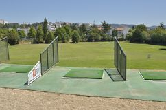 Practice golf course  in Coimbra. Practice golf course  in the gardens of Quinta das Lagrimas with views to the city in Coimbra, Portugal Stock Image