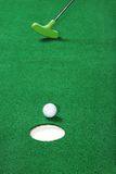 Practice golf putting Stock Photos