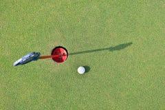 Practice Golf Putting Stock Photos