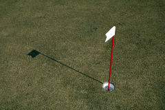 Practice Golf Putting Hole Stock Images