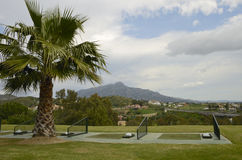 Practice golf tee Stock Photography