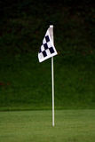 Practice Green Flag. Hole Flag on a Practice Green stock images
