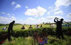 Practice ground at The French golf Open 2013 Royalty Free Stock Photography
