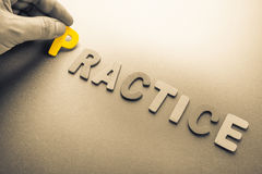 Practice Royalty Free Stock Image