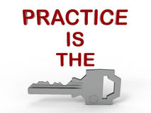 Practice is the key concept Stock Photo