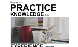 Practice Learning Knowledge Study Concept stock image