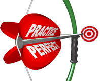 Practice Makes Perfect Bow and Arrow Royalty Free Stock Photo