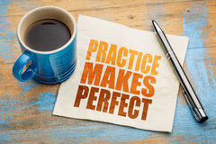 Practice makes perfect on napkin Royalty Free Stock Photos
