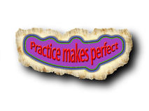 Practice makes perfect Royalty Free Stock Photos
