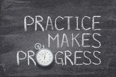 Free Practice Makes Progress Watch Stock Image - 114932421