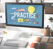 Practice Method Observe Operation Perform Utilize Concept Royalty Free Stock Photos
