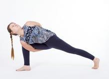 Practice Pose Training Parsvakonasana Stock Photos
