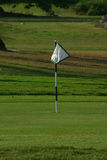 Practice Putting Green. A flag marks the hole on a practice putting green Royalty Free Stock Images