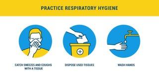 Free Practice Respiratory Hygiene Stock Photos - 175314133