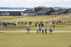 Practice Round for 2013 British Open at Muirfield Stock Photos