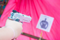 Practice shooting with gun Royalty Free Stock Photo