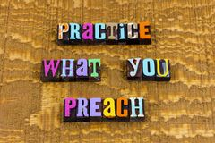 Free Practice What You Preach Honesty Trust Perfect Believe Royalty Free Stock Photo - 160036875