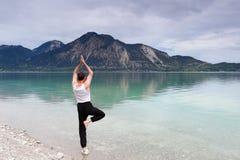 Practice yoga Royalty Free Stock Image