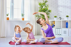 Practice yoga Royalty Free Stock Image
