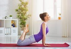 Practice yoga Stock Images