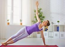 Practice yoga Stock Photo
