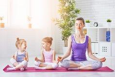 Practice yoga Stock Image