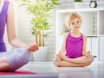 Practice yoga Royalty Free Stock Photos