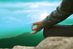 Practices of meditation Royalty Free Stock Photos