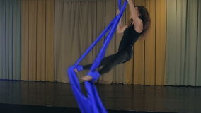 Practicing Aerial silk Stock Photography