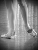 Practicing ballet Stock Images