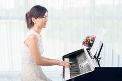 Practicing piano Royalty Free Stock Images