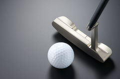 Practicing putter. Stock Photography