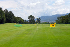 Practicing range at a golf course Stock Photo