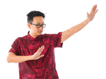 Practicing Tai Chi stock image