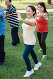 Practicing Tai Chi Royalty Free Stock Photography