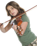 Practicing Violin Royalty Free Stock Photography