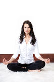 Practicing yoga Stock Image