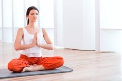 Practicing yoga. Beautiful woman a practicing yoga Stock Photos