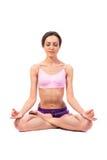 Practicing Yoga. Beautiful woman Stock Photos