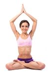 Practicing Yoga. Beautiful woman Royalty Free Stock Photography