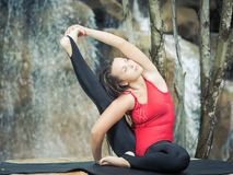 Practicing yoga Stock Photography